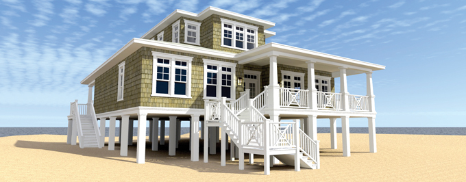 Elevated-House Raised Home Plans Foundation on pier and beam homes, flat roof homes, small foundation homes, basement homes, hardiplank exterior homes, slab foundation homes, siding homes, modular beach homes, new jersey beach homes, shingle exterior homes, a frame homes, piling foundation homes, tile roof homes, front porch homes, metal roof homes, types of foundations for homes, high foundation homes, raised house, wooden foundations for homes, raised kennel flooring,